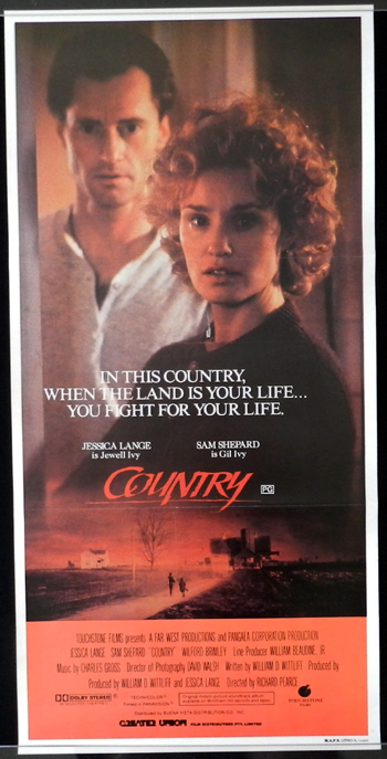 COUNTRY Daybill Movie poster JESSICA LANGE Sam Shepard