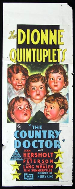 COUNTRY DOCTOR Long Daybill Movie Poster Dionne Quintuplets