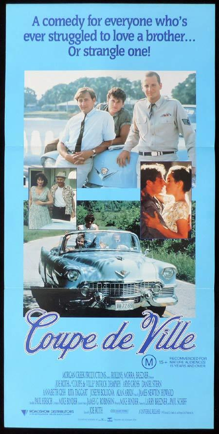 COUPE DE VILLE Original Daybill Movie Poster Patrick Dempsey