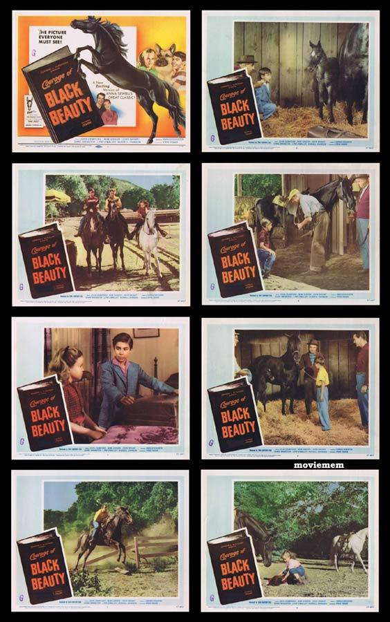 COURAGE OF BLACK BEAUTY Lobby Card Set Johnny Crawford
