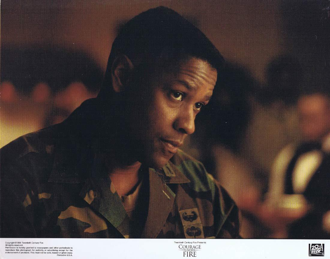 COURAGE UNDER FIRE Original Lobby Card 1 Denzel Washington Meg Ryan