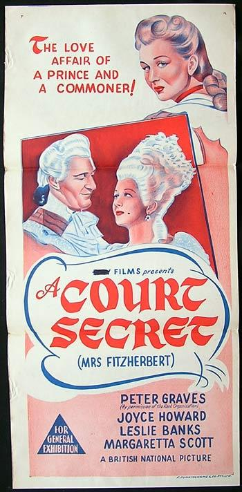 A COURT SECRET Daybill Movie poster 1947 Peter Graves