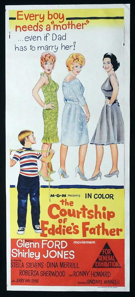 THE COURTSHIP OF EDDIE'S FATHER Original Daybill Movie Poster Glenn Ford Shirley Jones Stella Stevens