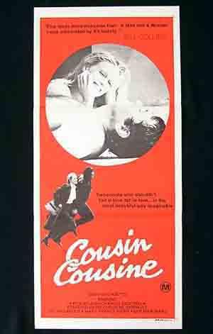 COUSIN COUSINE Original daybill poster Marie-France Pisier