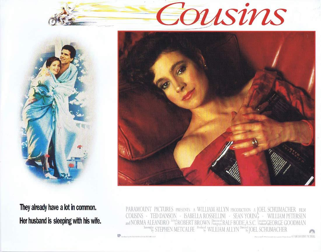 COUSINS Original Lobby Card 5 Ted Danson Isabella Rossellini Sean Young
