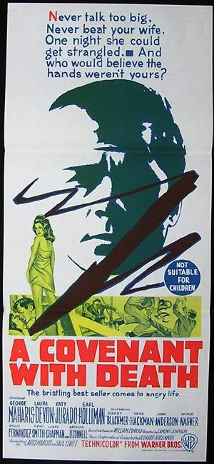 A COVENANT WITH DEATH Daybill Movie poster 1967 Gene Hackman
