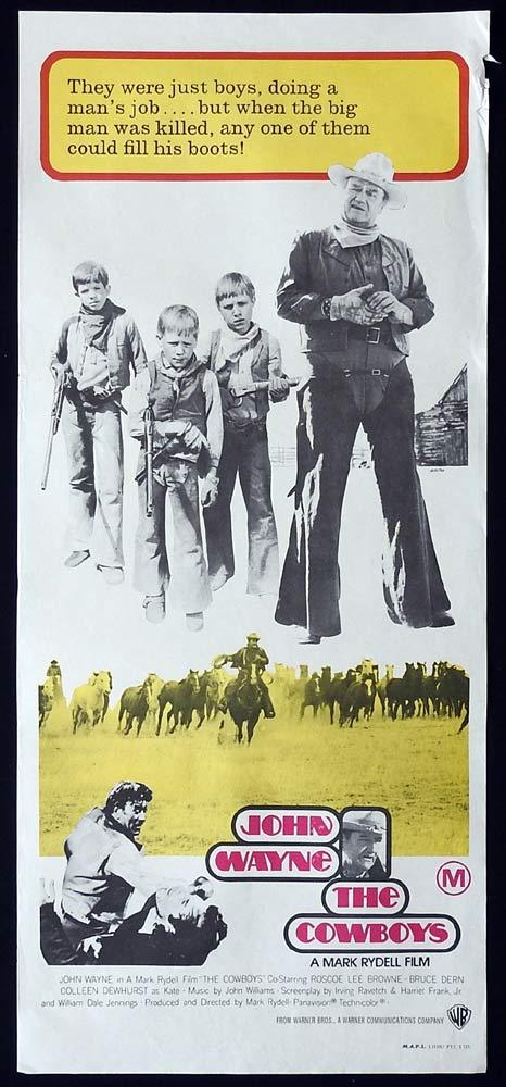 THE COWBOYS Original Daybill Movie poster John Wayne