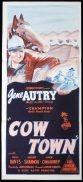 COW TOWN Original Daybill Movie Poster Gene Autry Gail Davis