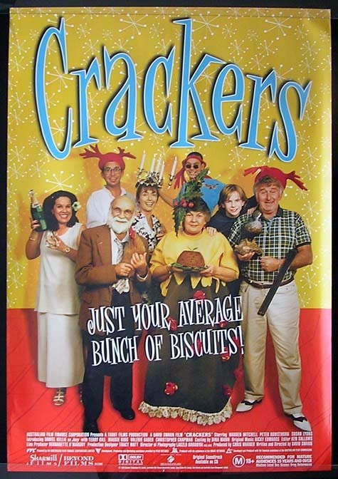 CRACKERS Warren Mitchell Australian 1 sheet Movie poster