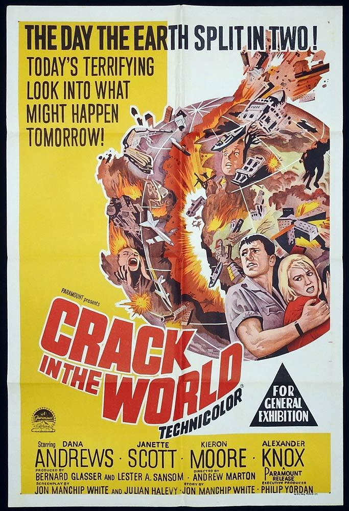 CRACK IN THE WORLD One Sheet Movie Poster Vincent Price Science Fiction