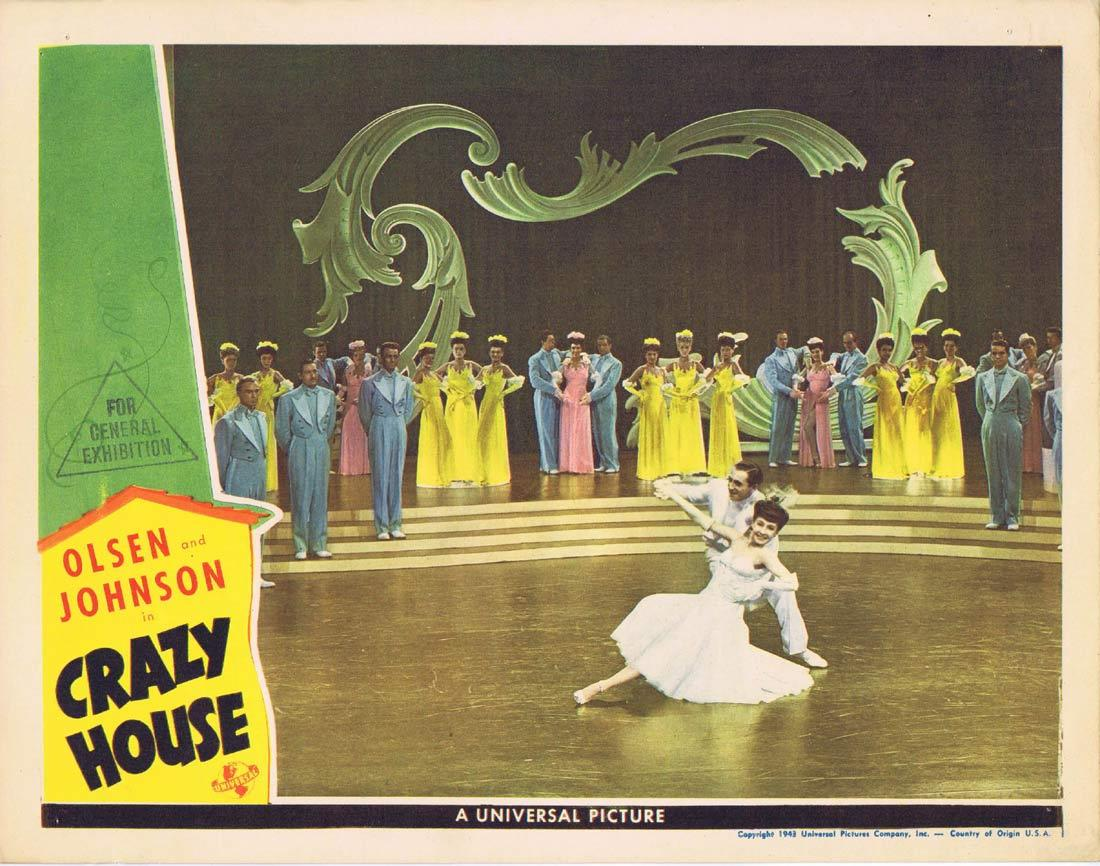 CRAZY HOUSE Lobby Card 5 Ole Olsen Chic Johnson Cass Daley Leo Carillo 1943