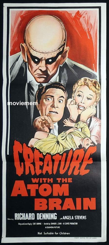 CREATURE WITH THE ATOM BRAIN Original daybill Movie poster Richard Denning Sci FI