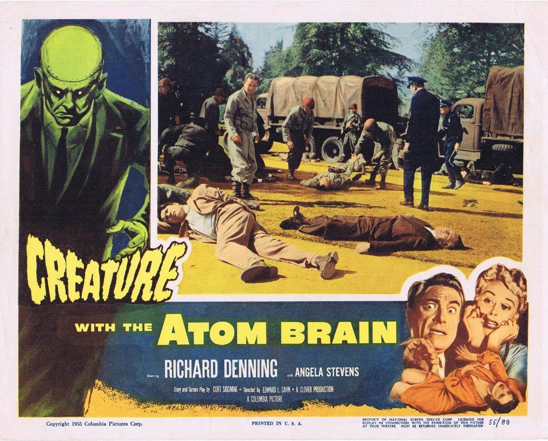 CREATURE WITH THE ATOM BRAIN Lobby Card Richard Denning Sci Fi