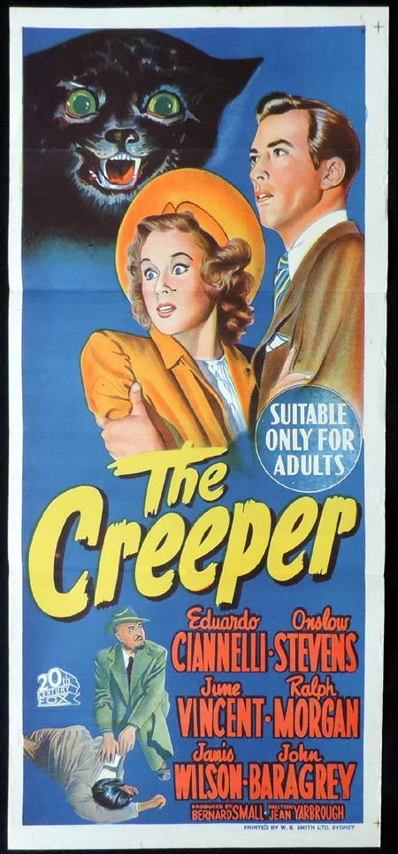 THE CREEPER Original Daybill Movie Poster Clark Gable Greer Garson