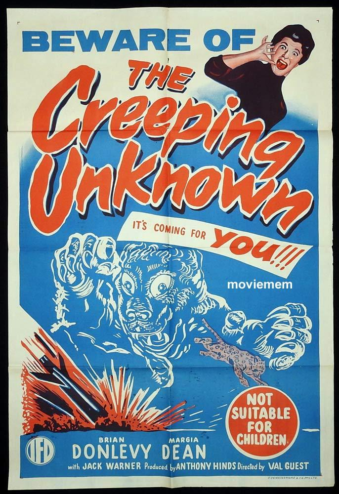 THE CREEPING UNKNOWN Original One sheet Movie Poster Xperiment Hammer Films