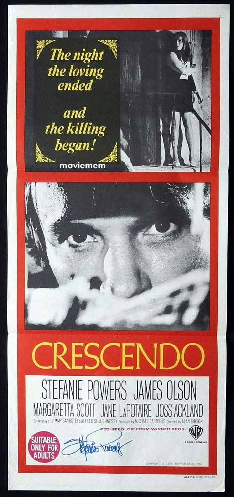CRESCENDO Original Daybill Movie Poster STEFANIE POWERS Autograph