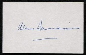 ALAN DAVIDSON Cricket Autographed Index Card