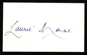 LAURIE MAYNE Cricket Autographed Index Card