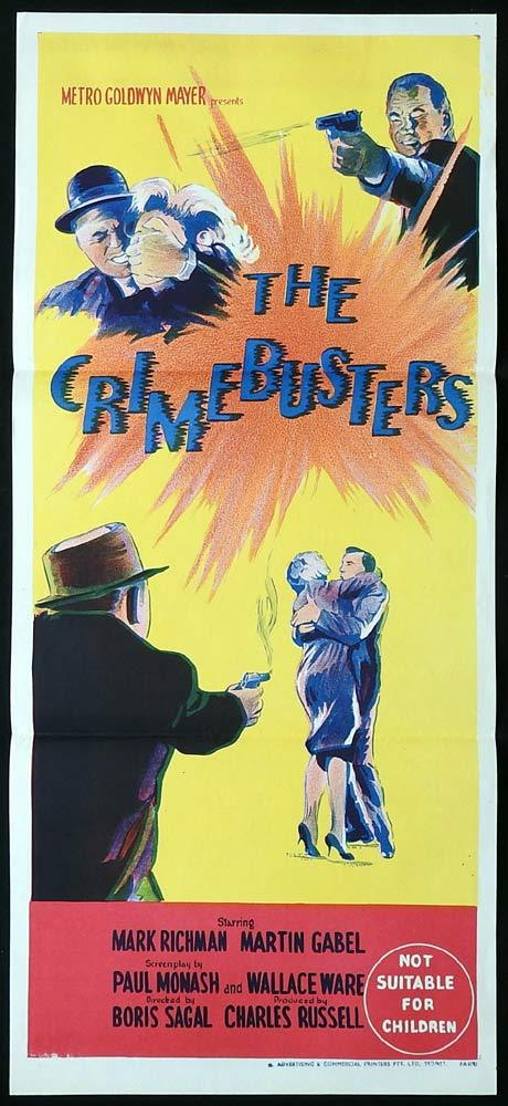 THE CRIMEBUSTERS Original Daybill Movie Poster Peter Mark Richman Film Noir