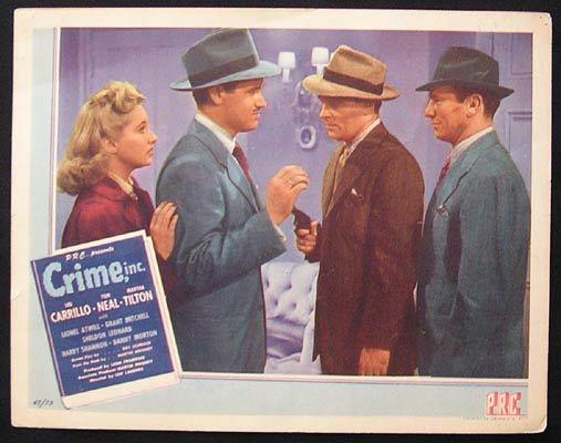 CRIME INC Lobby card Tom Neal Martha Tilton