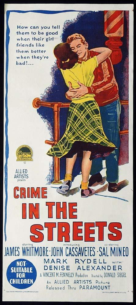 CRIME IN THE STREETS 1956 Sal Mineo RICHARDSON STUDIO Daybill Movie poster