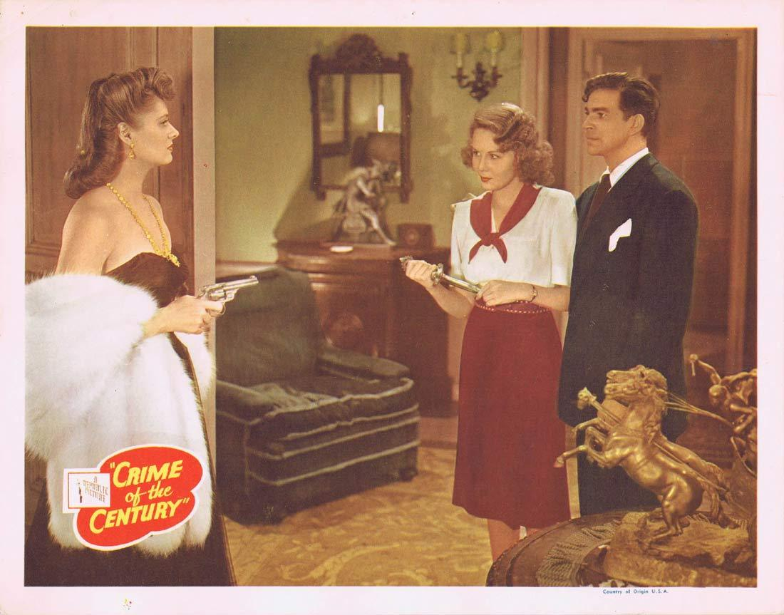 CRIME OF THE CENTURY Original Lobby Card Stephanie Bachelor Michael Browne Martin Kosleck