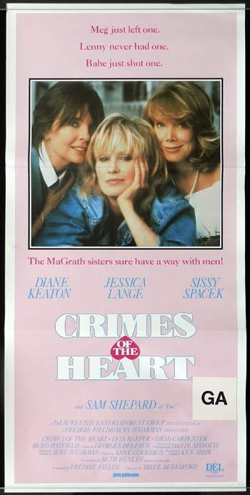 CRIMES OF THE HEART Diane Keaton Daybill Movie poster