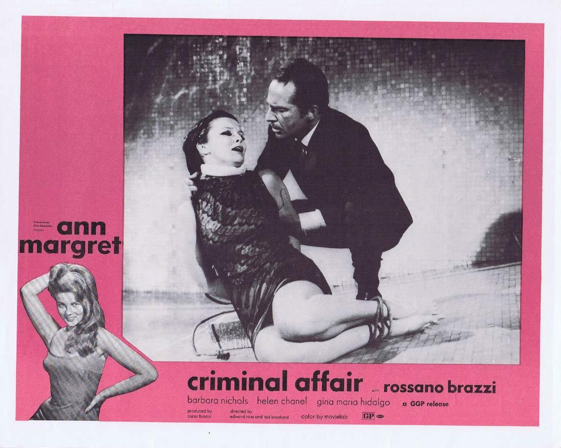 CRIMINAL AFFAIR Vintage Movie Lobby Card 2 Ann Margret Rossano Brazzi