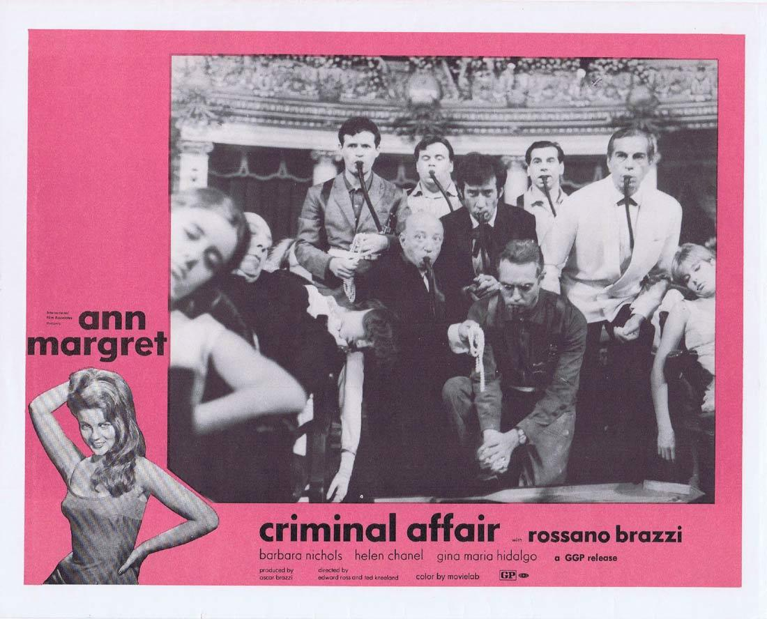CRIMINAL AFFAIR Vintage Movie Lobby Card 3 Ann Margret Rossano Brazzi