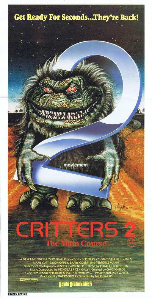 CRITTERS 2 Original daybill Movie Poster