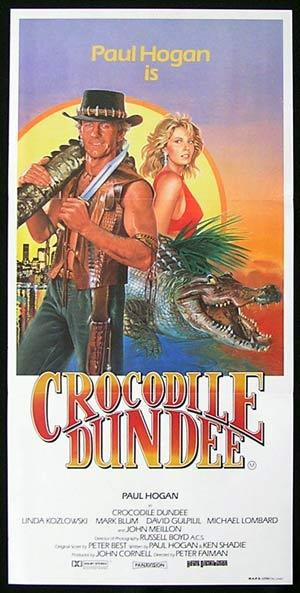 CROCODILE DUNDEE Original daybill poster 1986 Paul Hogan