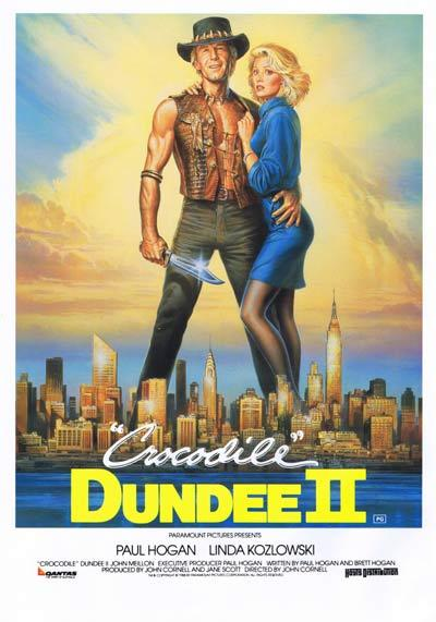 CROCODILE DUNDEE II '88 Paul Hogan ORIGINAL Handbill / Flyer