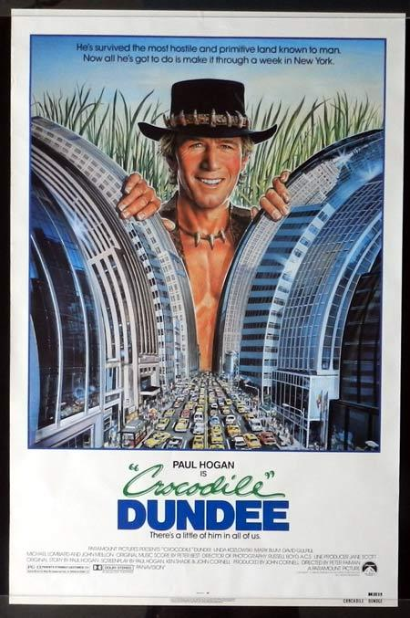 CROCODILE DUNDEE 1986 Paul Hogan US 1 sheet Movie poster