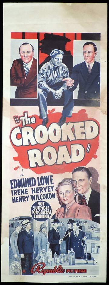 THE CROOKED ROAD Long Daybill Movie poster 1940 Edmond Lowe