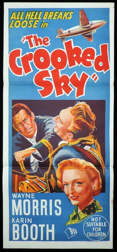 THE CROOKED SKY Original Daybill Movie Poster Wayne Morris