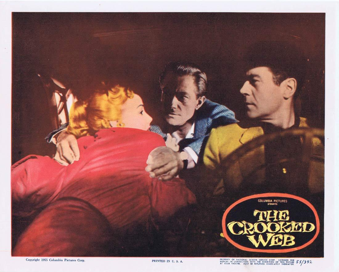 THE CROOKED WEB Original Lobby Card Frank Lovejoy Richard Denning Mari Blanchard