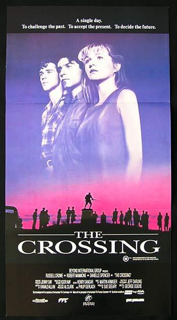CROSSING, The '90 Robert Mammone AUSTRALIAN FILM Rare daybill poster