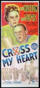 CROSS MY HEART Original Daybill Movie Poster Betty Hutton Sonny Tufts Richardson Studio