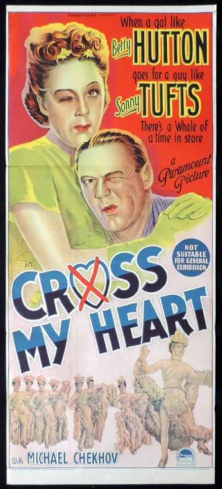 CROSS MY HEART Original Daybill Movie Poster Betty Hutton Sonny Tufts Richardson Studio