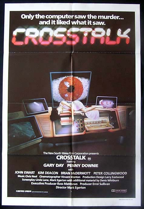 CROSSTALK 1982 Gary Day AUSTRALIAN FILM Rare One Sheet poster