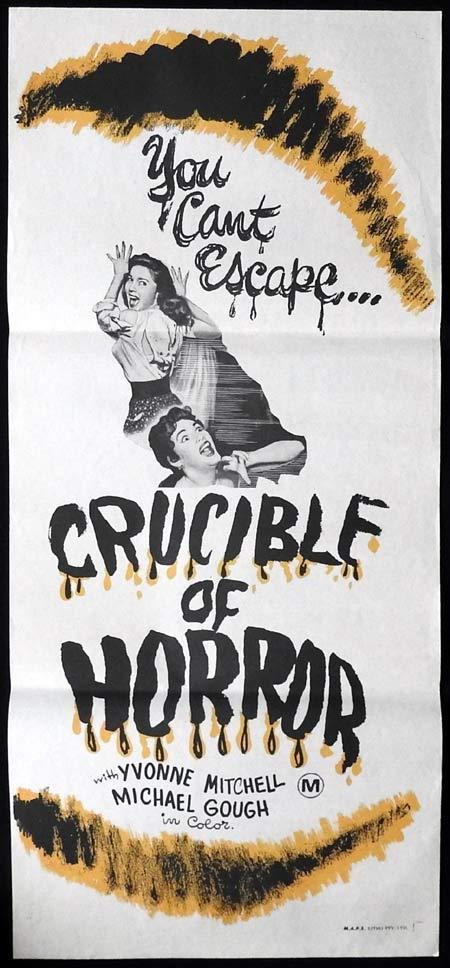 CRUCIBLE OF HORROR aka THE CORPSE Original Daybill Movie Poster Yvonne Mitchell