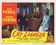 CRY DANGER Lobby card 3 1951 Dick Powell Rhonda Fleming RKO Film Noir