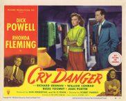 CRY DANGER Lobby card 7 1951 Dick Powell Rhonda Fleming RKO Film Noir