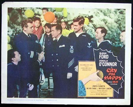 CRY FOR HAPPY '60-Glenn Ford ORIGINAL US Lobby card #5