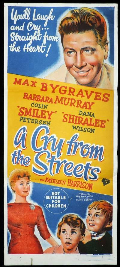 A CRY FROM THE STREETS Daybill Movie Poster Max Bygraves