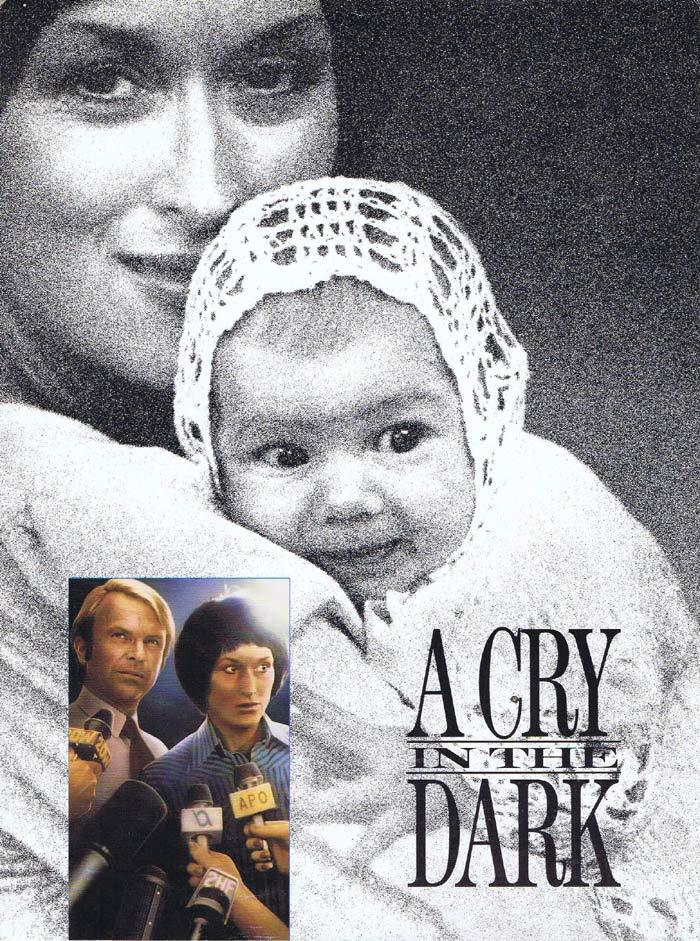 A CRY IN THE DARK Original Movie Herald Meryl Streep Sam Neill