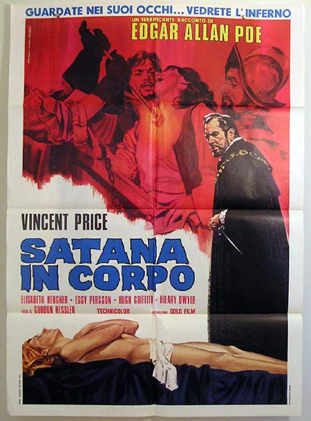 CRY OF THE BANSHEE Original Italian Movie Poster VINCENT PRICE