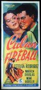 CUBAN FIREBALL Original Daybill Movie Poster Estelita Rodriguez