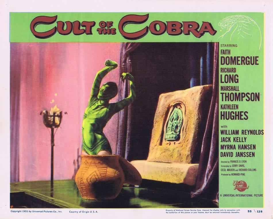 CULT OF THE COBRA Lobby Card 4 Faith Domergue Sci Fi