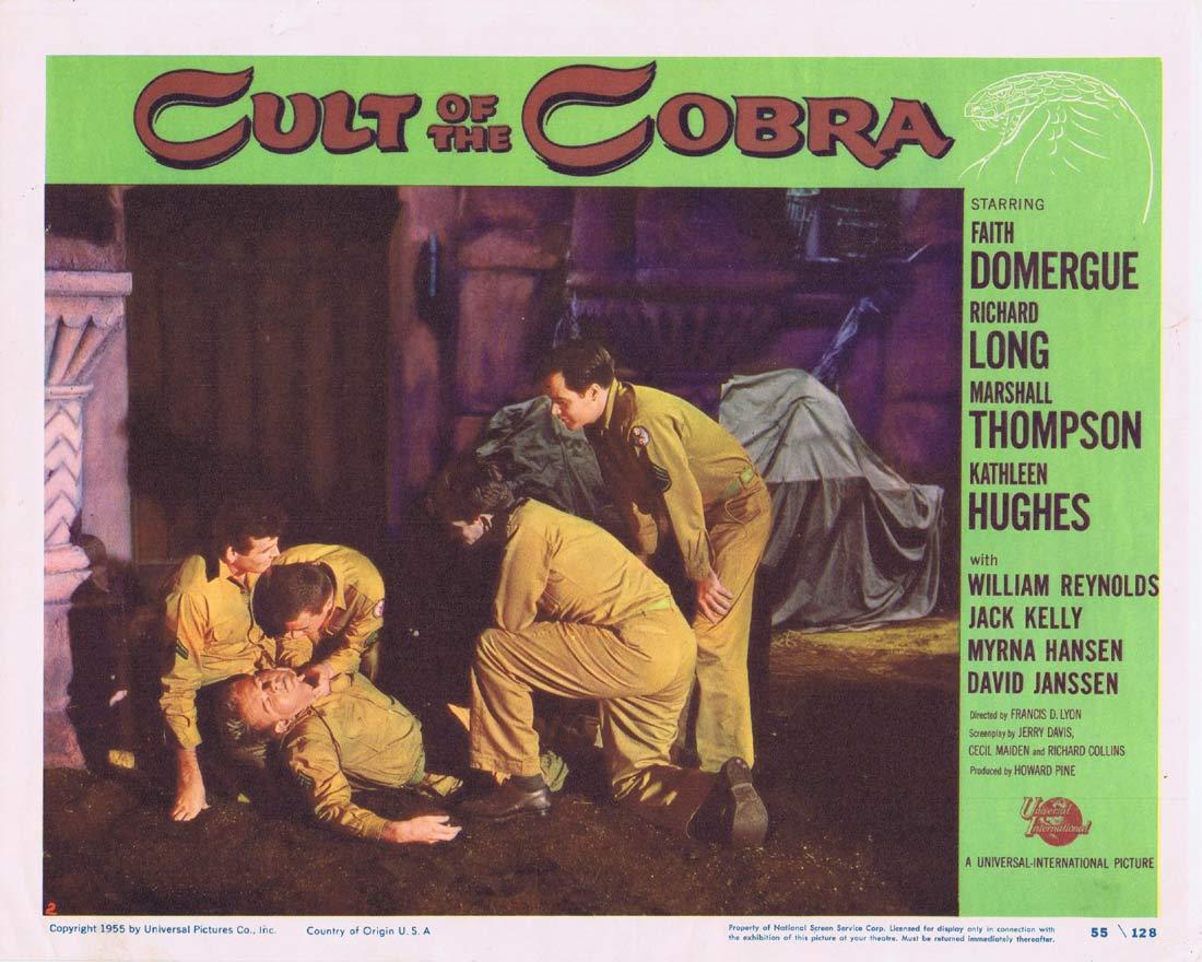 CULT OF THE COBRA Lobby Card 2 Faith Domergue Kathleen Hughes Richard Long Sci fi
